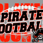pirate football on grey